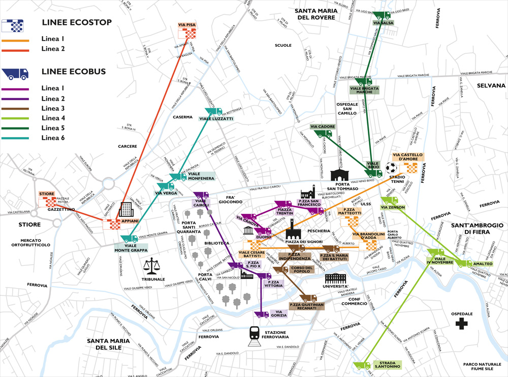 mappa linee ecobus