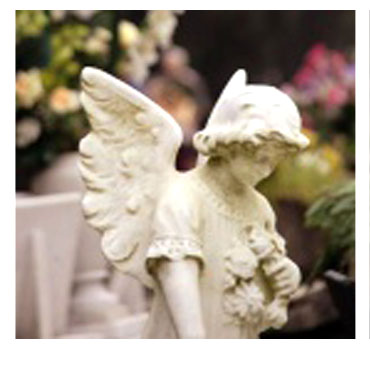 foto statua con angelo